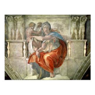 Sistine Kapellen-Decke: Delphic Sibyl Postkarte
