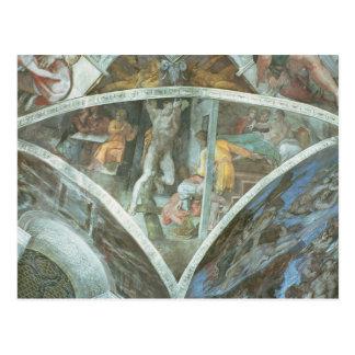 Sistine Kapellen-Decke: Haman Postkarte