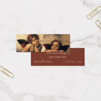Sistine Madonna, Engelsdetail durch RAPHAEL Mini Visitenkarte