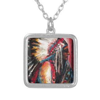 Sitting Bull in der Farbe Versilberte Kette