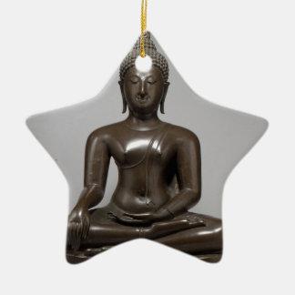 Sitzbuddha - 15. Jahrhundert Keramik Stern-Ornament