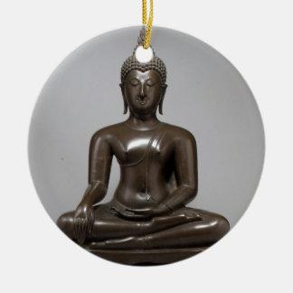 Sitzbuddha - 15. Jahrhundert Rundes Keramik Ornament