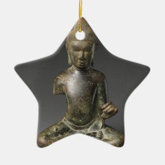 Sitzbuddha- - Pyuzeitraum Keramik Stern-Ornament