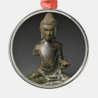 Sitzbuddha- - Pyuzeitraum Silbernes Ornament