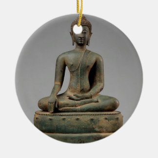 Sitzbuddha - Thailand Keramik Ornament