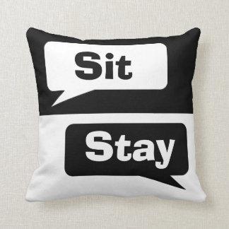 Sitzen Sie Aufenthalt Kissen