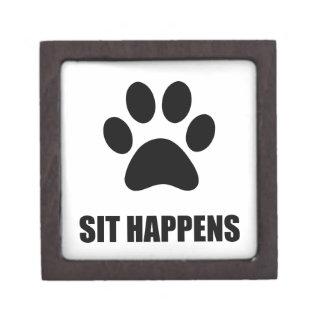 Sitzen Sie geschieht Hund Kiste