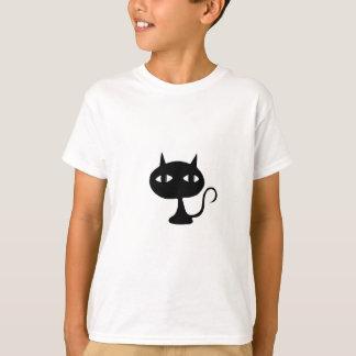 Sitzende Katzen-Silhouette T-Shirt
