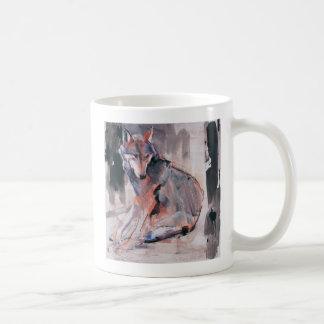 Sitzender Wolf 2000 Kaffeetasse