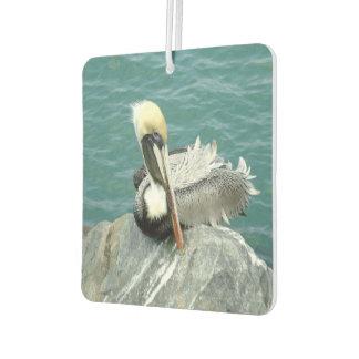 Sitzendes Pelikan-Quadrat Lufterfrischer