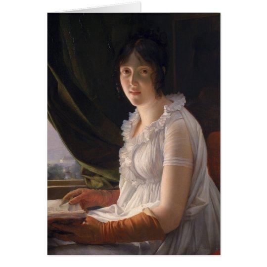 Sitzporträt von Marie-Philippe-Claude Grußkarte