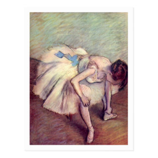 Sitztänzer durch Edgar Degas Postkarte