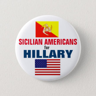 Sizilianische Amerikaner für Hillary 2016 Runder Button 5,7 Cm