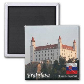 SK - Slowakei - Bratislava - Schloss Quadratischer Magnet