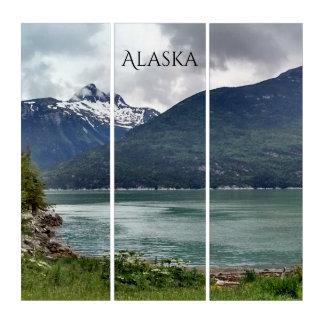 Skagway die Bucht Alaska-Schmugglers Foto-Andenken Triptychon