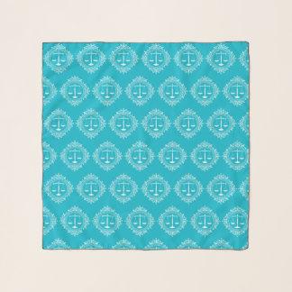 Skalen Aqua-dekorativen des Musters der Schal