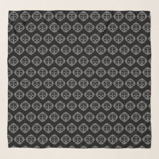 Skalen dekorativen des Musters der Schal