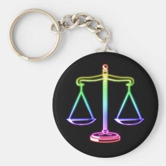 Skalen des Gesetzes der Gerechtigkeits-| Standard Runder Schlüsselanhänger