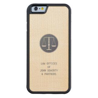 Skalen des Rechtsanwalts der Gerechtigkeits-| Bumper iPhone 6 Hülle Ahorn