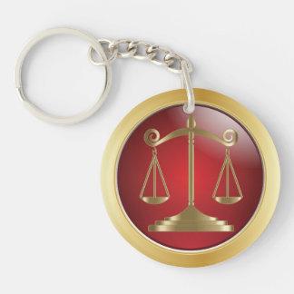 Skalen des Rechtsanwalts der Gerechtigkeits-| des Schlüsselanhänger