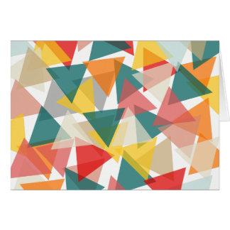 Skandinavische Art-geometrisches Chaos Grußkarte
