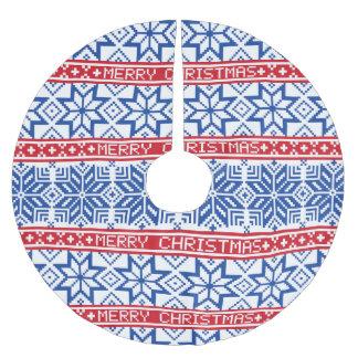 Skandinavische frohe Weihnachten Polyester Weihnachtsbaumdecke