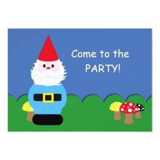 Skandinavischer Gnome-kundengerechtes Party 12,7 X 17,8 Cm Einladungskarte