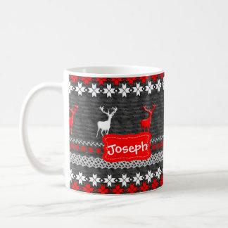 Skandinavisches Rotwild-Weihnachtsmuster Kaffeetasse