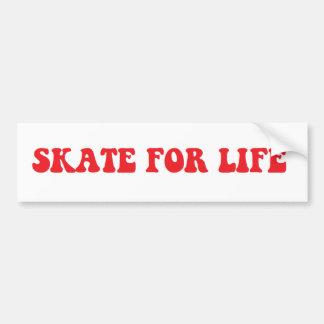 Skate für Lebenaufkleber Autoaufkleber