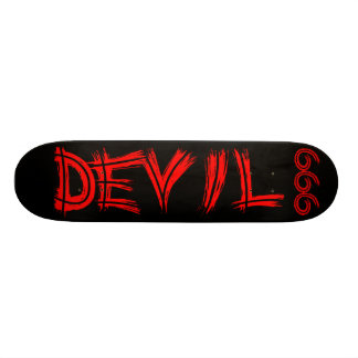 Skateboard des Teufel-666 Personalisierte Skatedecks