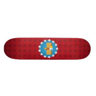 Skateboard-Plattform Freiheits-Eagles (rot) - 19,1 Cm Old School Skateboard Deck