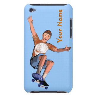 Skateboarding Jungen-Gewohnheits-Text iPod Touch Hüllen