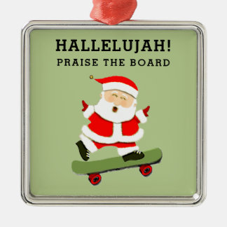 skateboarding Weihnachten Silbernes Ornament