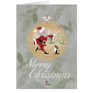 Skaten-Weihnachtsmann-Weihnachtskarte Grußkarte