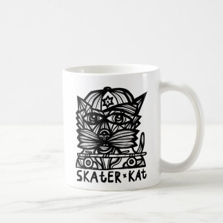 """Skater Kat"" 11 Unze-Klassiker-Tasse Kaffeetasse"