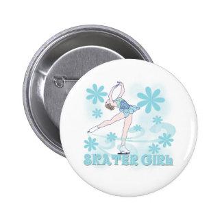 Skater-Mädchen Runder Button 5,1 Cm