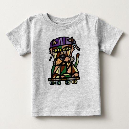 """""""Skaterkat-"""" Baby-feiner Jersey-T - Shirt"""