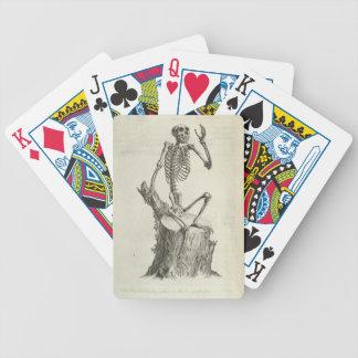 Skeleton Affe Bicycle Spielkarten