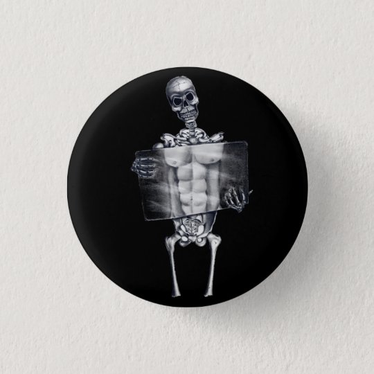 Skeleton Brustradiographie-Knopf Runder Button 2,5 Cm