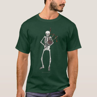Skeleton Dudelsack-Spieler T-Shirt