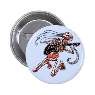 Skeleton Gitarrist 0515 Runder Button 5,1 Cm