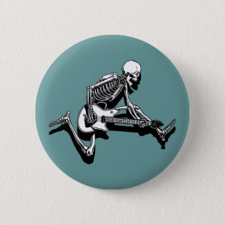 Skeleton Gitarrist springen Runder Button 5,1 Cm