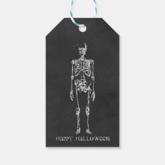 Skeleton Halloween-Geschenk-Umbauten Geschenkanhänger