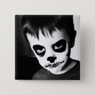 Skeleton Kind (2-Zoll-Button) Quadratischer Button 5,1 Cm