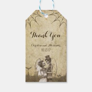 Skeleton Paare für Halloween-Hochzeit Geschenkanhänger