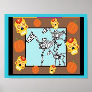 Skeleton Pferde, Tag der Toten Poster