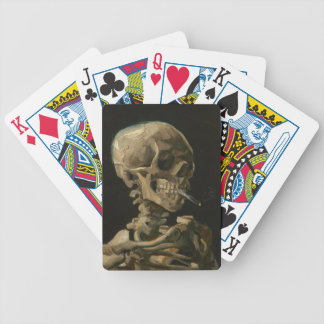 Skeleton Schädel mit brennender Zigarette Van Gogh Bicycle Spielkarten