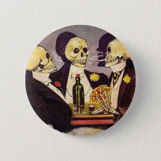 Skeleton Spieler Runder Button 5,7 Cm