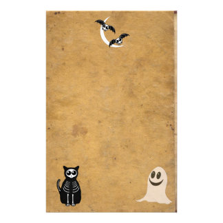 Skeleton Tier-Gruppe Halloweens Briefpapier