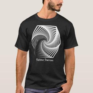 Skeleton Treppenhaus-Muster T-Shirt